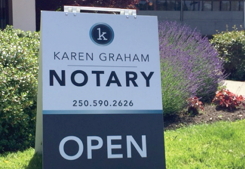 Karen Graham, Oak Bay Notary
